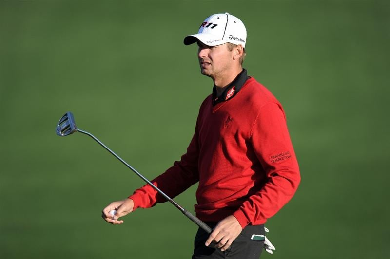 AUGUSTA, GA - APRIL 07:  Sean O'Hair looks on after making par on the second hole during the first round of the 2011 Masters Tournament at Augusta National Golf Club on April 7, 2011 in Augusta, Georgia.  (Photo by Harry How/Getty Images)