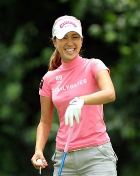 HAVRE DE GRACE, MD - JUNE 04: Momoko Ueda of Japan on the 9th tee during practice for the 2008 McDonald's LPGA Championship held at Bulle Rock Golf Course, on June 4, 2008 in Havre de Grace, Maryland.  (Photo by David Cannon/Getty Images)