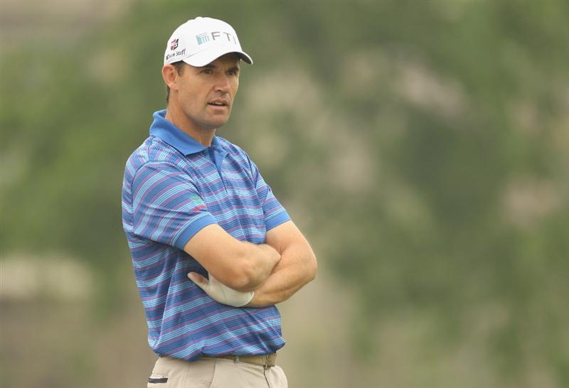 CHENGDU, CHINA - APRIL 20:  Padraig Harrington of Ireland looks on during the Pro-Am of the Volvo China Open at Luxehills Country Club on April 20, 2011 in Chengdu, China.  (Photo by Ian Walton/Getty Images)