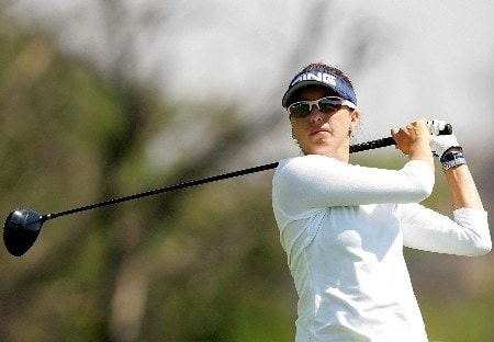 MORELIA, MEXICO - APRIL 26:  Stacy Prammanasudh of the United States hits off the fourth tee during the first round of the Corona Championship April 26, 2007 at Tres Marias Club de Golf in Morelia, Michoacan, Mexico.  (Photo by Matthew Stockman/Getty Images)