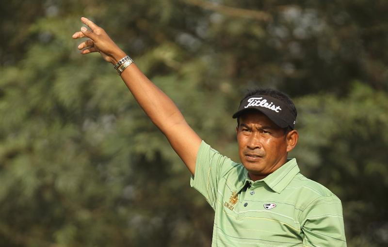 NEW DELHI, INDIA - FEBRUARY 11:  Thaworn Wiratchant of Thailand during Round One of the Avantha Masters held at The DLF Golf and Country Club on February 11, 2010 in New Delhi, India.  (Photo by Ian Walton/Getty Images)