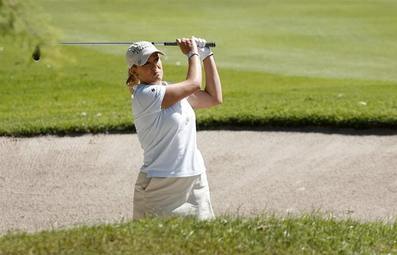 GUADALAJARA, MX - NOVEMBER 16: Cristie Kerr of the United States hits her second shot on the 4th hole during the final round of the Lorena Ochoa Invitational at Guadalajara Country Club on November 16, 2008 in Guadalajara, Mexico. (Photo by Hunter Martin/Getty Images)