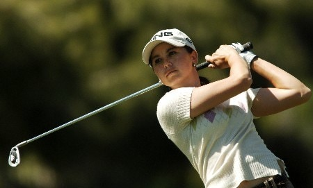 Stacy Prammanasudh in action during the final round of the 2005 LPGA Takefuji Classic at the Las Vegas Country Club in Las Vegas, Nevada, April 16, 2005.Photo by Steve Grayson/WireImage.com