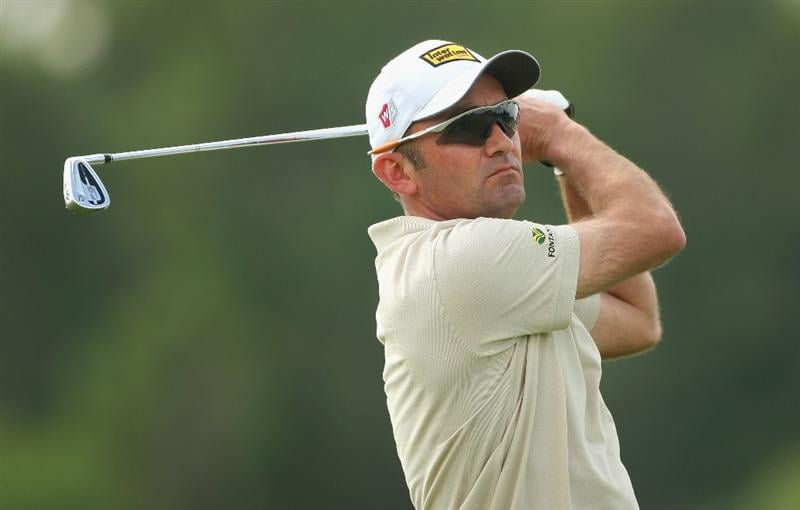 ABU DHABI, UNITED ARAB EMIRATES - JANUARY 16:  Markus Brier of Austria watches his second shot on the 14th hole during the second round of The Abu Dhabi Golf Championship at Abu Dhabi Golf Club on January 16, 2009 in Abu Dhabi, United Arab Emirates.  (Photo by Andrew Redington/Getty Images)