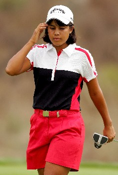 MORELIA, MEXICO - APRIL 29: Julieta Granada of Paraguay walks off the 16th green after missing a birdie attempt during the final round of the Corona Championship April 29, 2007 at Tres Marias Club de Golf in Morelia, Michoacan, Mexico.  (Photo by Matthew Stockman/Getty Images)