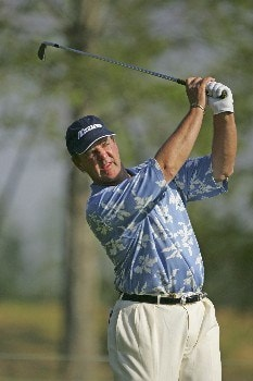 Tom Purtzer competes in the first round of the 2005 Libery Mutual Legends of Golf tournament at the Westin Savannah Harbor Golf Resort & Spa on April 22, 2005 in Savannah, Georgia.Photo by Chris Condon/PGA TOUR/WireImage.com