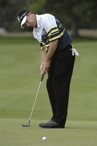 SILVIS, IL - JULY 12:  Woody Austin during the first round of The John Deere Classic at the TPC Deere Run on July 12, 2007 in Silvis, Illinois.  (Photo by Marc Feldman/WireImage) *** Local Caption *** Woody Austin PGA - John Deere Classic - First RoundPhoto by Marc Feldman/WireImage) *** Local Caption *** Woody Austin