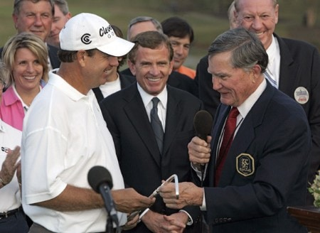 Bart Bryant after winning THE TOUR Championship at East Lake Golf Club in Atlanta, Georgia on November 6, 2005.Photo by Sam Greenwood/WireImage.com