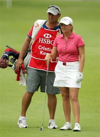 SINGAPORE - FEBRUARY 27:  Cristie Kerr of the USA  during the final round of the HSBC Women's Champions at Tanah Merah Country Club  on February 27, 2011 in Singapore, Singapore.  (Photo by Ross Kinnaird/Getty Images)