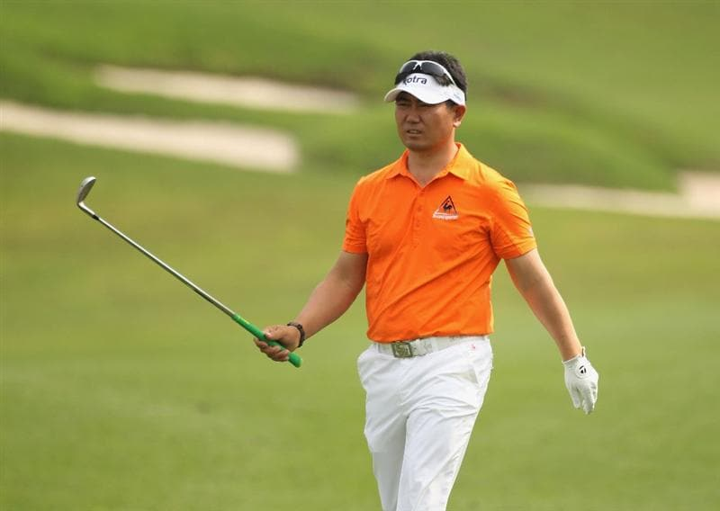 CHENGDU, CHINA - APRIL 22:  Y E Yang of Korea looks on during day two of the Volvo China Open at Luxehills Country Club on April 22, 2011 in Chengdu, China.  (Photo by Ian Walton/Getty Images)