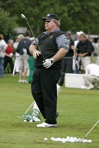 Craig Stadler hits on the driving range during the Bank of America Championship held at Nashawtuc Country Club in Concord, Massachusetts, on June 9, 2006.Photo by Hunter Martin/WireImage.com