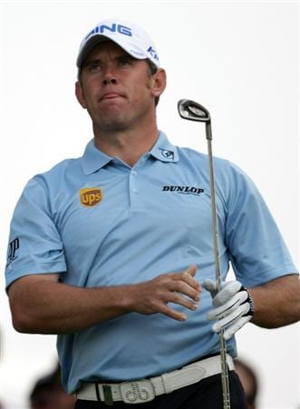 DUBAI, UNITED ARAB EMIRATES - FEBRUARY 11:  Lee Westwood of England during the second round the Omega Dubai Desert Classic on the Majlis course at the Emirates Golf Club on February 11, 2011 in Dubai, United Arab Emirates.  (Photo by Ross Kinnaird/Getty Images)