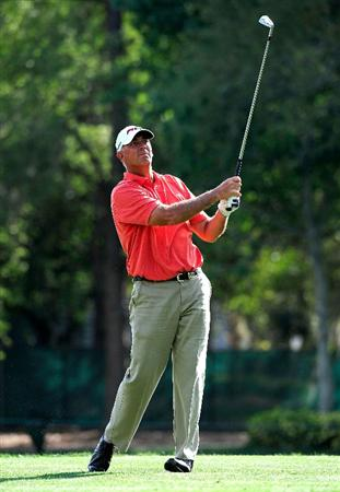 PALM HARBOR, FL - MARCH 21:  Tom Lehman hits on the 17th hole during the third round of the Transitions Championship at the Innisbrook Resort and Golf Club on March 21, 2009 in Palm Harbor, Florida.  (Photo by Sam Greenwood/Getty Images)