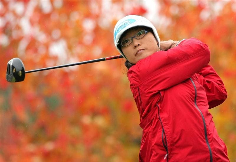 SHIMA, JAPAN - NOVEMBER 08:  Jimin Kang of South Korea makes a tee shot on the second hole during the second round of 2008 Mizuno Classic at Kintetsu Kashikojima Country Club on November 8, 2008 in Shima, Mie, Japan.  (Photo by Koichi Kamoshida/Getty Images)