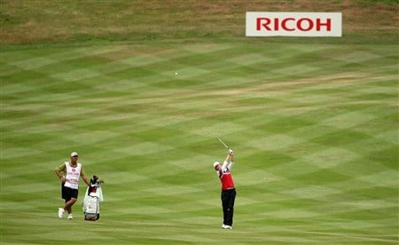 SUNNINGDALE, UNITED KINGDOM - JULY 31:  Helen Alfredsson of Sweden hits her second shot at the 10th hole during the first round of the 2008  Ricoh Women's British Open Championship held on the Old Course at Sunningdale Golf Club, on July 31, 2008 in Sunningdale, England.  (Photo by David Cannon/Getty Images)