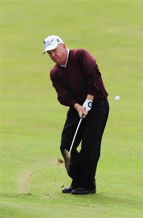 TURNBERRY, SCOTLAND - JULY 18:  Billy Mayfair of USA hits a chip shot during round three of the 138th Open Championship on the Ailsa Course, Turnberry Golf Club on July 18, 2009 in Turnberry, Scotland.  (Photo by Stuart Franklin/Getty Images)