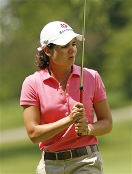 ROCHESTER, NY - JUNE 22: Lorena Ochoa of Mexico reacts after missing her birdie putt on the 14th hole during the final round of the Wegmans LPGA at Locust Hill Country Club on June 22, 2008 in Rochester, New York. (Photo by Hunter Martin/Getty Images)