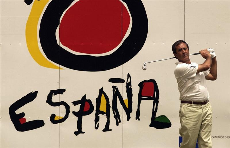 24 Apr 2002:  Seve Ballesteros of Spain during the pro-am at The Canarias Open de Espania at Las Palmas, Canaria.  DIGITAL IMAGE Mandatory Credit: Stuart Franklin/Getty Images