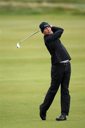 CARNOUSTIE, UNITED KINGDOM - OCTOBER 04: Soren Hansen of Denmark plays his second shot on the 17th hole during the third round of The Alfred Dunhill Links Championship at Carnoustie Golf Club on October 4, 2008 in Carnoustie, Scotland.  (Photo by David Cannon/Getty Images)