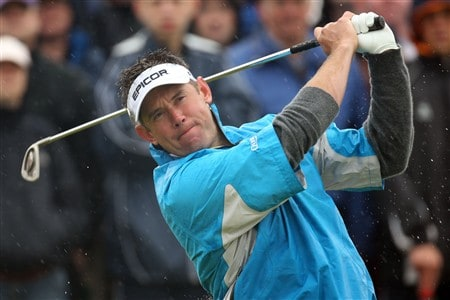 SOUTHPORT, UNITED KINGDOM - JULY 17:  Lee Westwood of England hits his tee shot on the ninth hole during the First Round of the 137th Open Championship on July 17, 2008 at Royal Birkdale Golf Club, Southport, England.  (Photo by Ross Kinnaird/Getty Images)