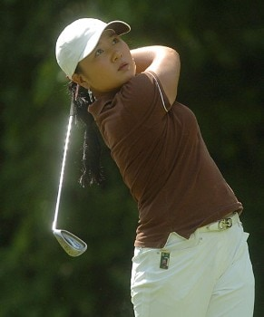Meena Lee in action during the first round of the LPGA's Wendy's Championship For Children at Tartan Fields Golf Club in Dublin, Ohio August 25, 2005.Photo by Steve Grayson/WireImage.com