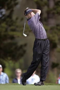 PGA golfer Brad Faxon tees off on the 2nd tee during the first round of the 2006 PGA Mercedes Championship at the Plantation Course on the Kapalua Resort January 5, 2006 in Kapalua, Maui, Hawaii.Photo by Marco Garcia/PGA TOUR/WireImage.com