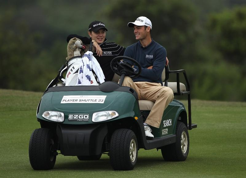 CASARES, SPAIN - MAY 18:  Martin Kaymer of Germany and his brother Philip Kaymer drive down the seventh faitway during the pro-am of the Volvo World Match Play Championship at Finca Cortesin on May 18, 2011 in Casares, Spain.  (Photo by Warren Little/Getty Images)