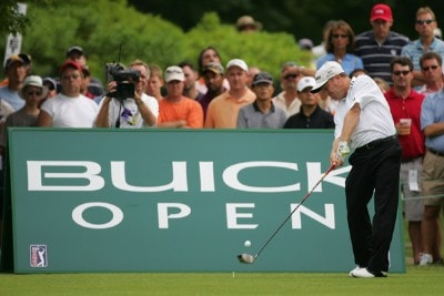 Jeff Sluman during the third round of the Buick Open at Warwick Hills Golf and Country Club in Grand Blanc, Michigan on August 5, 2006.