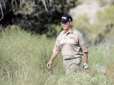 Ted Purdy walks to the second tee during the final round of the 2005 Michelin Championship at Las  Vegas Sunday, Oct. 16, 2005, at the The Players Club at Summerlin in Las Vegas, Nevada.Photo by Grant Halverson/WireImage.com