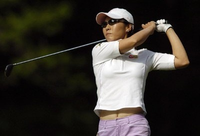 Candie Kung tees off during the first round of the LPGA Florida's Natural Charity Championship on Thursday, April 20, 2006, at EagleOs Landing Country Club in Stockbridge, Georgia.Photo by Grant Halverson/WireImage.com