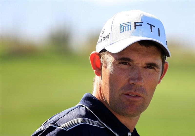 MARANA, AZ - FEBRUARY 24:  Padraig Harrington of Ireland waits on the practice ground during a practice round prior to the start of the Accenture Match Play Championship at the Ritz-Carlton Golf Club at Dove Mountain on February 24, 2009 in Marana, Arizona.  (Photo by Scott Halleran/Getty Images)