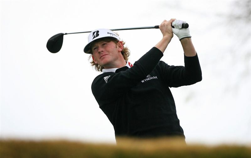 SCOTTSDALE, AZ - FEBRUARY 28: Brandt Snedeker hits his tee shot on the third hole during the final round of the Waste Management Phoenix Open at TPC Scottsdale on February 28, 2010 in Scottsdale, Arizona. (Photo by Hunter Martin/Getty Images)