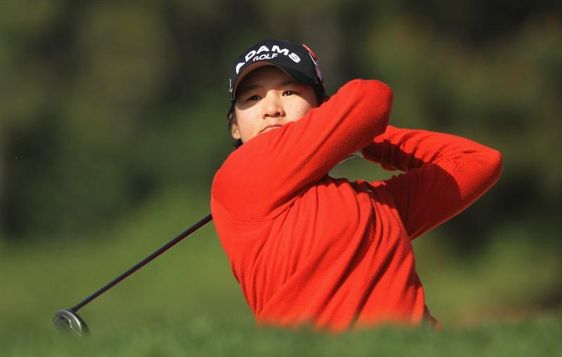 CITY OF INDUSTRY, CA - MARCH 24:  Yani Tseng of Taiwan watches her second shot on the 12th hole during the first round of the Kia Classic on March 24, 2011 at the Industry Hills Golf Club in the City of Industry, California.  (Photo by Scott Halleran/Getty Images)