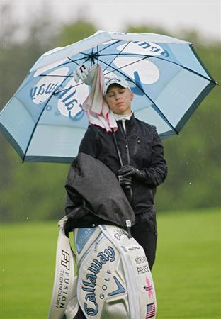 PITTSFORD, NY - JUNE 28: Morgan Pressel of the USA composes herself on the 17th fairway after a poor drive during the final round of the Wegmans LPGA at Locust Hill Country Club held on June 28, 2009 in Pittsford, NY. (Photo by Michael Cohen/Getty Images)