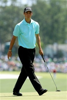 AUGUSTA, GA - APRIL 11:  Martin Kaymer of Germany walks across the first green during the second round of the 2008 Masters Tournament at Augusta National Golf Club on April 11, 2008 in Augusta, Georgia.  (Photo by Andrew Redington/Getty Images)