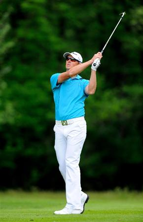 TURIN, ITALY - MAY 09:  Fredrik Andersson Hed of Sweden plays his approach shot on the seventh hole during the final round of the BMW Italian Open at Royal Park I Roveri on May 9, 2010 in Turin, Italy.  (Photo by Stuart Franklin/Getty Images)