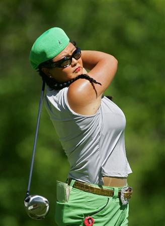 CORNING, NY - MAY 21:  Christina Kim of the United States hits a drive during the first round of the LPGA Corning Classic at the Corning Country Club held on May 21, 2009 in Corning, New York.  (Photo by Michael Cohen/Getty Images)