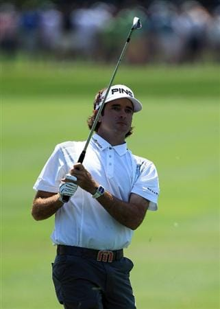 ORLANDO, FL - MARCH 27:  Bubba Watson of the USA plays his second shot on the 1st hole during the final round of the 2011 Arnold Palmer Invitational presented by Mastercard at the Bay Hill Lodge and Country Club on March 27, 2011 in Orlando, Florida.  (Photo by David Cannon/Getty Images)