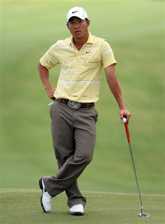 PERTH, AUSTRALIA - FEBRUARY 21:  Anthony Kim of the USA waits to putt at the 17th hole during the third round of the 2009 Johnnie Walker Classic tournament at the Vines Resort and Country Club, on February 21, 2009, in Perth, Australia  (Photo by David Cannon/Getty Images)