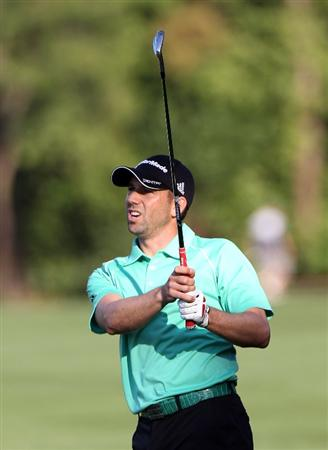 PALM HARBOR, FL - MARCH 17:  Sergio Garcia of Spain plays a shot during the first round of the Transitions Championship at Innisbrook Resort and Golf Club on March 17, 2011 in Palm Harbor, Florida.  (Photo by Sam Greenwood/Getty Images)