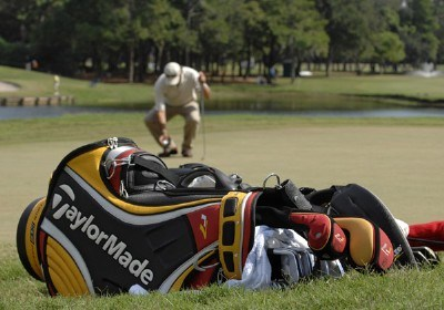 A TaylorMade bag near the 12th green  during the second round of the 2006 Chrysler Championship on October 27, 2006 in Palm Harbor, Florida.   Photo by Al Messerschmidt/WireImage.com