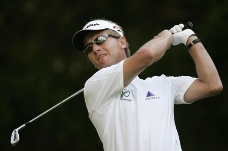 Philip Golding during the third round of the 2005 Omega European Masters at the Crans-sur-Sierre Golf Club . September 3, 2005Photo by Pete Fontaine/WireImage.com