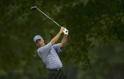Ben Crenshaw during the first round of the Commerce Bank Championship on the Red Course at Eisenhower Park  in East Meadow, New York on June 23, 2006.Photo by Michael Cohen/WireImage.com