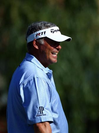 MALLORCA, SPAIN - MAY 11:  Darren Clarke of Northern Ireland smiles during the ProAm of the Iberdrola Open at Pula Golf Club on May 11, 2011 in Mallorca, Spain.  (Photo by Julian Finney/Getty Images)