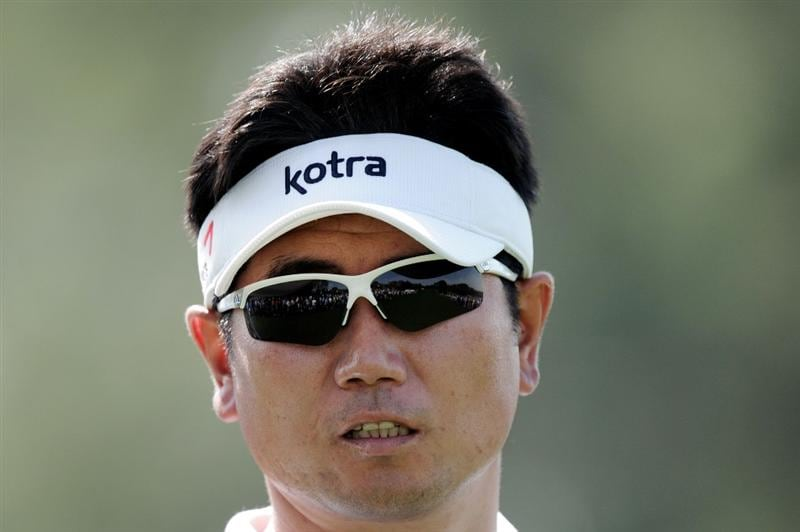 AUGUSTA, GA - APRIL 07:  Y.E. Yang of Korea waits on a tee box during a practice round prior to the 2010 Masters Tournament at Augusta National Golf Club on April 7, 2010 in Augusta, Georgia.  (Photo by Harry How/Getty Images)