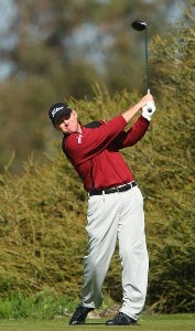 Troy Matteson tees off the 9th hole during the second round of the Buick Invitational on January 25, 2008 at the Torrey Pines Golf Course in  La Jolla, California. PGA TOUR - 2008 Buick Invitational - Round TwoPhoto by Donald Miralle/Getty Images