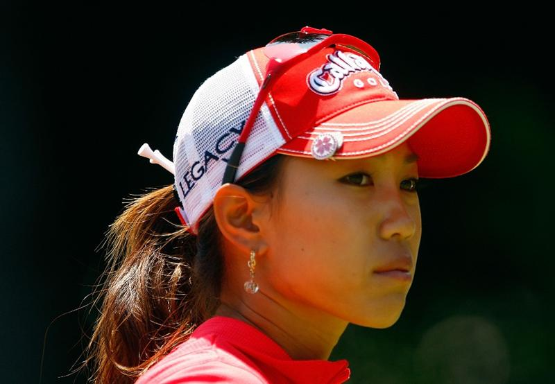 BETHLEHEM, PA - JULY 12:  Momoko Ueda of Japan waits on the ninth tee during the final round of the 2009 U.S. Women's Open at the Saucon Valley Country Club on July 12, 2009 in Bethlehem, Pennsylvania.  (Photo by Scott Halleran/Getty Images)