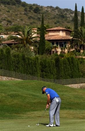 MALLORCA, SPAIN - MAY 14:  Graeme Storm of England putts on hole 4 during day three of the Iberdrola Open at Pula Golf Club on May 14, 2011 in Mallorca, Spain.  (Photo by Julian Finney/Getty Images)
