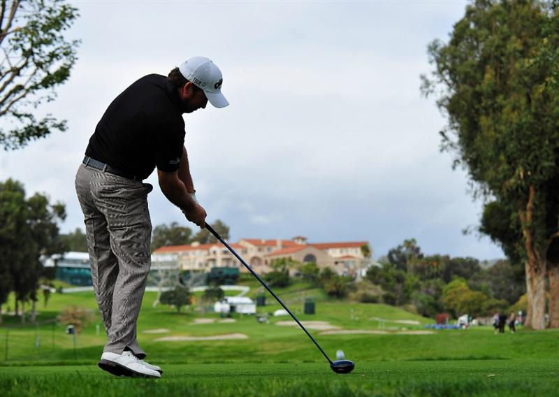 LOS ANGELES, CA - FEBRUARY 17:  Graeme McDowell of Northern Ireland hits a shot during the practice of the Northern Trust Open at the Riviera Country Club February 17, 2009 in Pacific Palisades, California.  (Photo by Stuart Franklin/Getty Images)