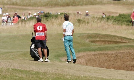 Fredrik Jacobson during the Third round of the 2005 British Open Golf Championship at the Royal and Ancient Golf Club in St. Andrews, Scotland on July 16, 2005Photo by Phil Inglis/WireImage.com